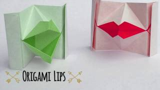 Download lagu TUTORIAL How to make an origami Kissing Lips MP3
