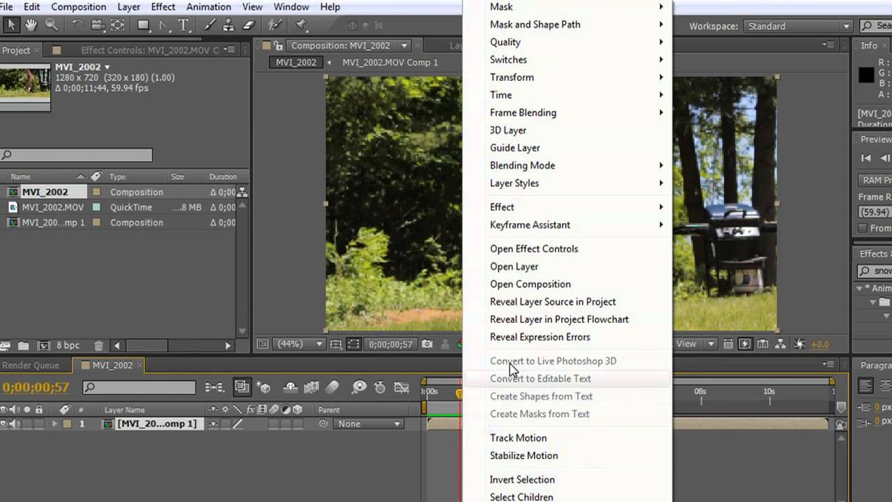 How to Reverse Video in After Effects : Adobe After Effects