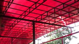 Навес из поликарбоната, обзор(В этом ролике я покажу навес из поликарбоната у частного дома, который изготовлен с помощью моего самодельн..., 2015-07-14T13:43:00.000Z)