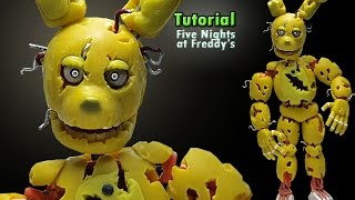 - How to make SPRINGTRAP  FNaF 3  Tutorial Polymer clay  Porcelana fria