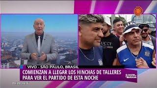 La previa del partido de Talleres en Brasil