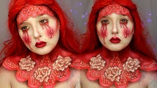 Red Queen of Bleeding Hearts Makeup Tutorial | Jordan Hanz
