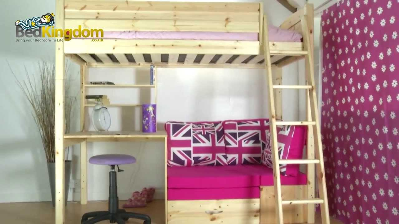 thuka trendy 29 high sleeper bed youtube. Black Bedroom Furniture Sets. Home Design Ideas