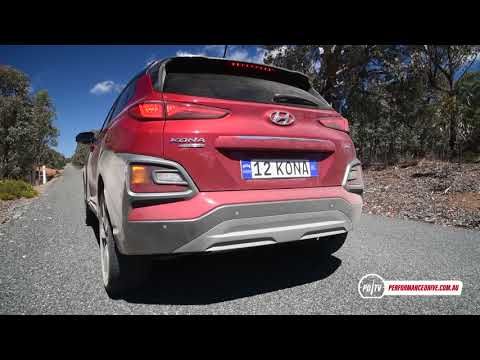 2017 Hyundai Kona turbo AWD 0 100km h engine sound