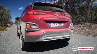 2017 Hyundai Kona turbo (AWD) 0-100km/h & engine sound
