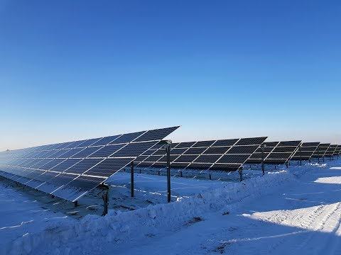 The largest solar power plant in Kazakhstan
