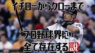 """プロ野球界の歴史上に""""イチロー""""から""""クロー""""まで全て存在するかを検証..."""