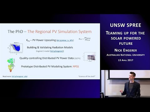 UNSW SPREE 201704-13 Nick Engerer - Teaming up for the solar