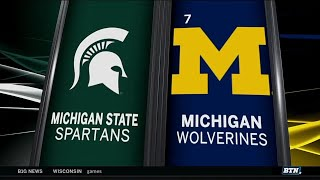 Michigan State at Michigan - Football Highlights