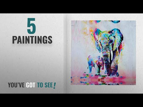 Top 10 Paintings [2018]: Lalang Painting on Canvas Elephant Painting Modern Art Wall Decor