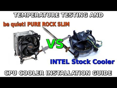 be quiet! Pure ROCK Slim VS Stock INTEL Cooler