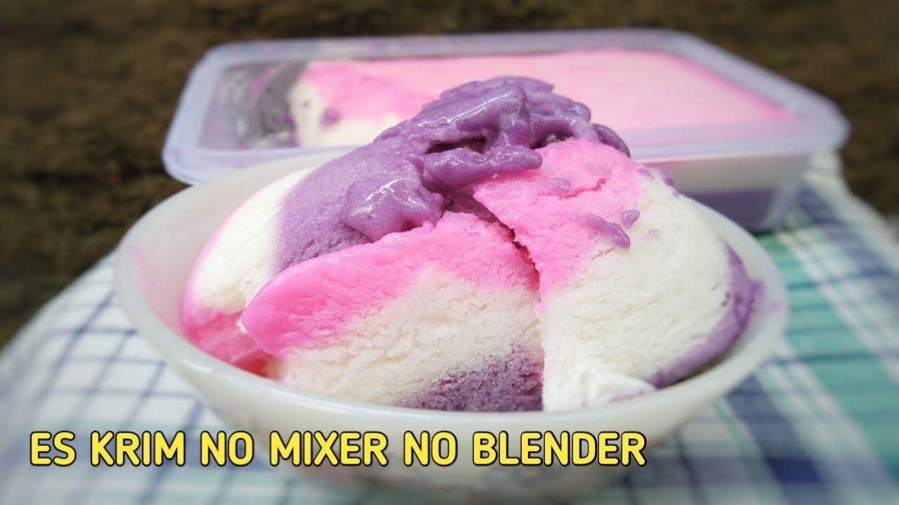 Membuat Es Krim Tanpa Mixer Tanpa Blender How To Make Ice Cream