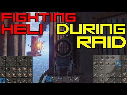 FIGHTING HELI DURING RAID | Rust Raid (Vanilla)