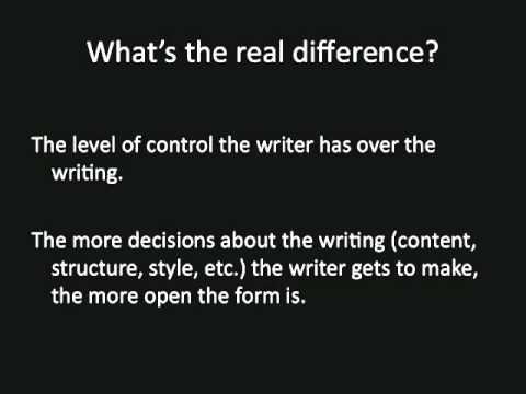 open vs closed forms - YouTube