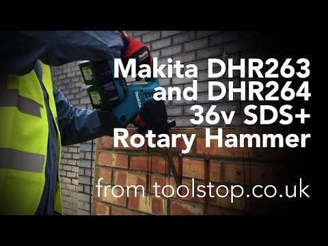 Видео обзор: Перфоратор аккум MAKITA DHR 263 RF 4