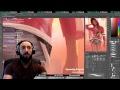 LIVE Digital Art Stream-Chicago Style Pinup