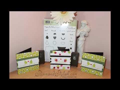Stampin' Up! Catalogue CASE: Tutti Fruitti Suite 3x3 card tutorial