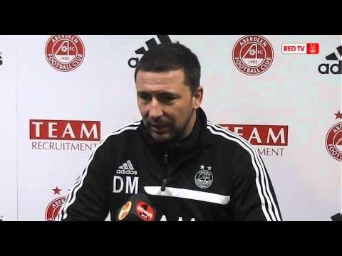 Aberdeen 1 Hibernian 0 | Derek McInnes' post match reaction, 110114