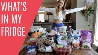 WHAT'S IN MY FRIDGE + POST WORKOUT MEAL
