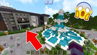 SAIU! A MANSÃO MAIS CARA DO MUNDO NO MINECRAFT POCKET EDITION (MINECRAFT PE)
