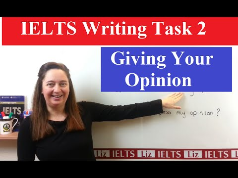 IELTS Writing Task 2 Tips: Expressing your Opinion - YouTube