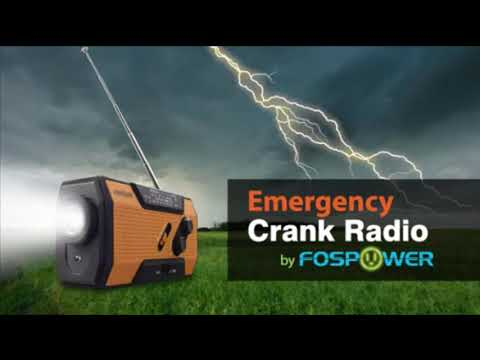 FosPower Emergency Solar Hand Crank Portable Radio for Household and Outdoor Emergency