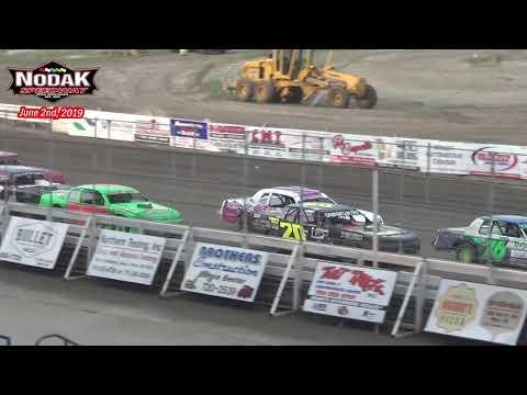 Nodak Speedway IMCA Stock Car Heats (6/2/19)
