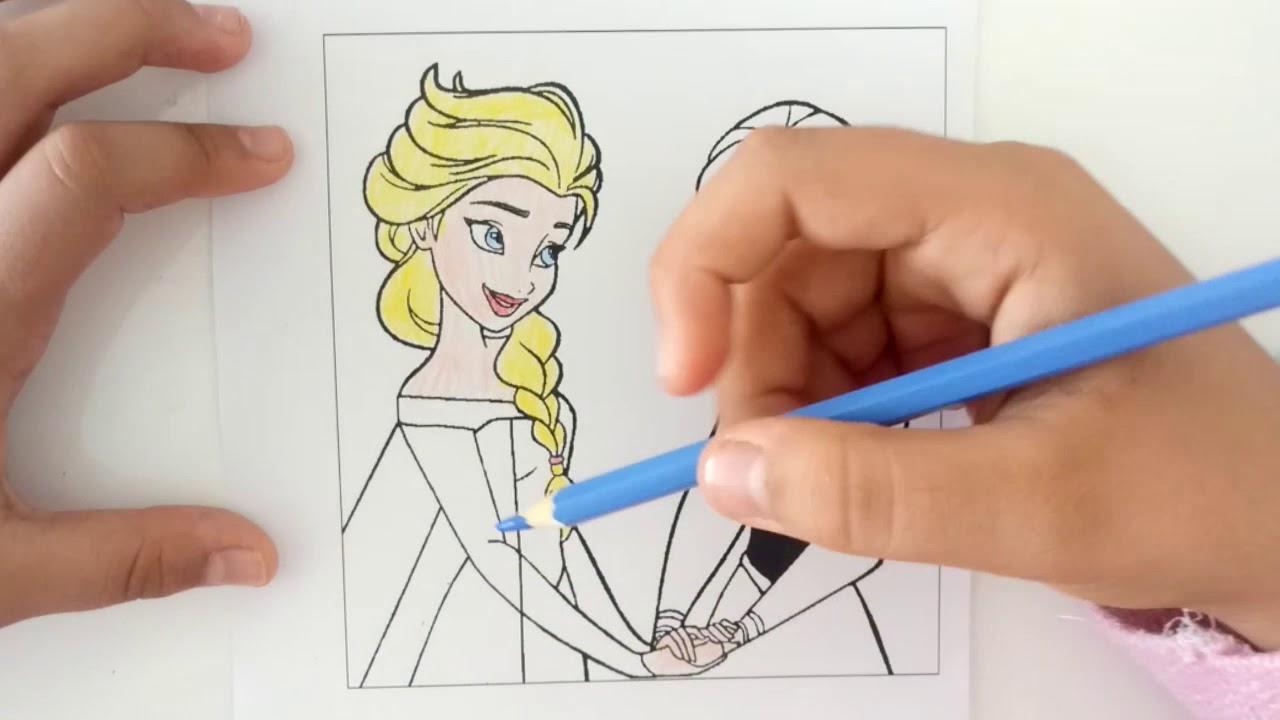 Karlar Ulkesi Boyama Serisi Anna Ve Elsa Boyama Oyunu Youtube