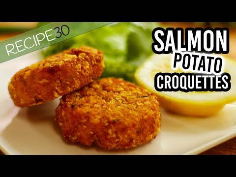 Crunchy Salmon Croquettes A Type Of Fried Salmon Patty