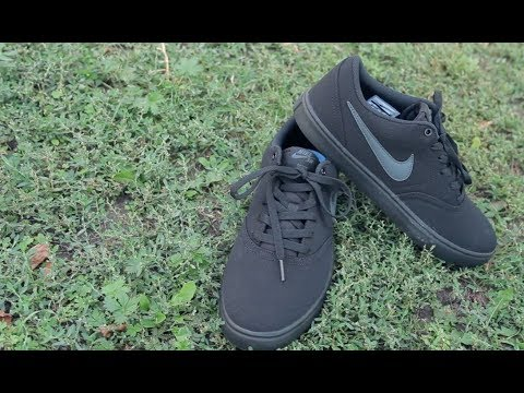 Nike Men's SB Check Solarsoft Canvas Skateboarding Shoe обзор 2017 - YouTube