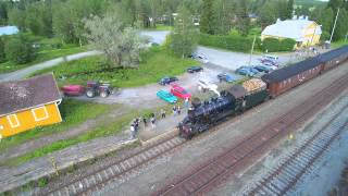 Höyryjuna tulee Kiuruveden asemalle iskelmäviikon aikana.