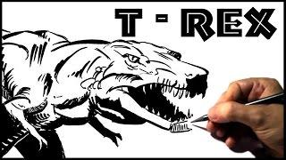 Desenhando Dinossauros: T-Rex  (How To Draw T rex)