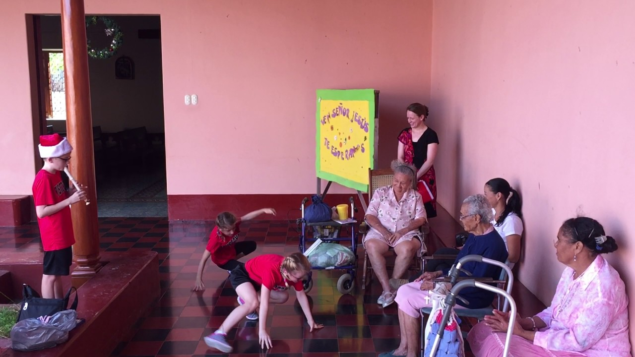 Christmas Eve at Asilo de Ancianos - Granada, Nicaragua