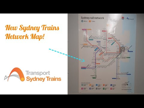 NSW Transport Vlogs 419 : New Sydney Trains Network Map ...