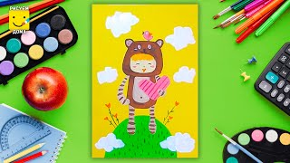 Рисунок к 8 марта  - урок рисования для детей от 4 лет, гуашь,  рисуем дома поэтапно