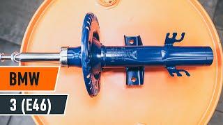 Como substituir a amortecedores dianteiros no BMW 3 E46 [TUTORIAL]