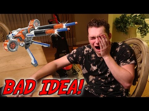 I WENT BLIND!! NERF GUN WAR (GONE WRONG)