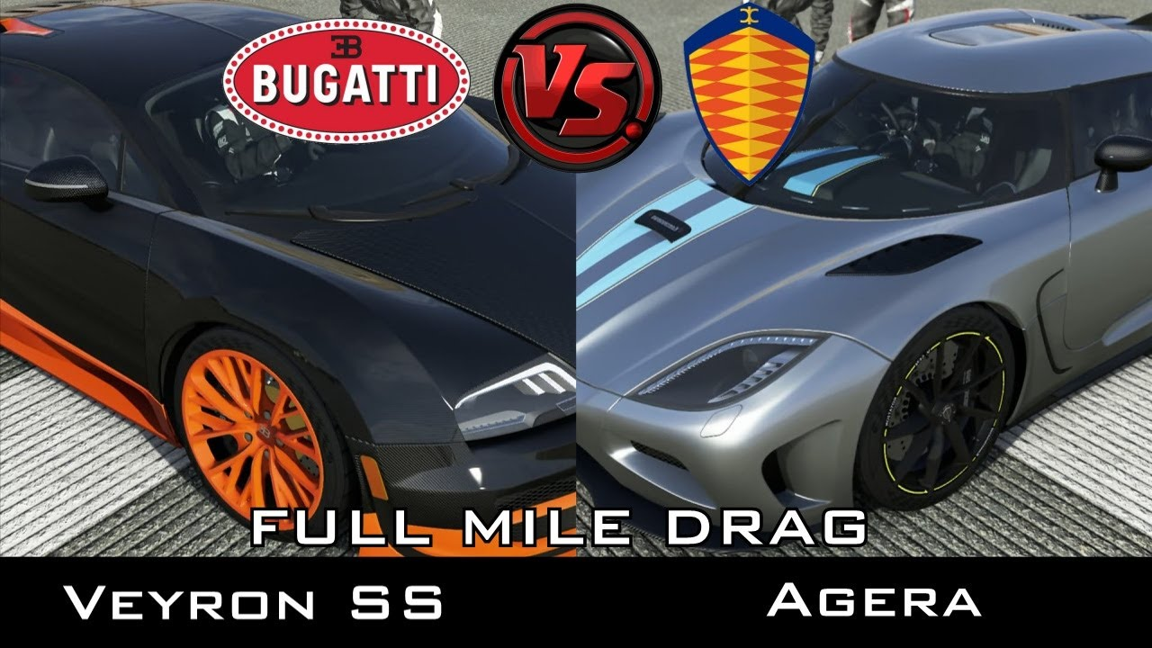 forza 5 full mile drag bugatti veyron ss vs koenigsegg agera youtube. Black Bedroom Furniture Sets. Home Design Ideas
