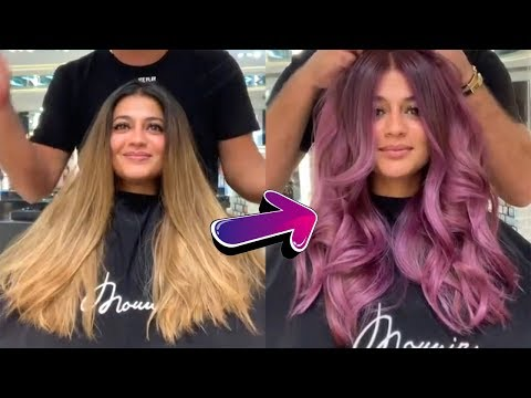 Professional Hairstyles Tutorials by Mounir | Amazing Hair Color Transformations