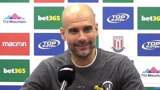 Stoke City 0-2 Manchester City - Pep Guardiola Full Post Match Press Conference - Premier League
