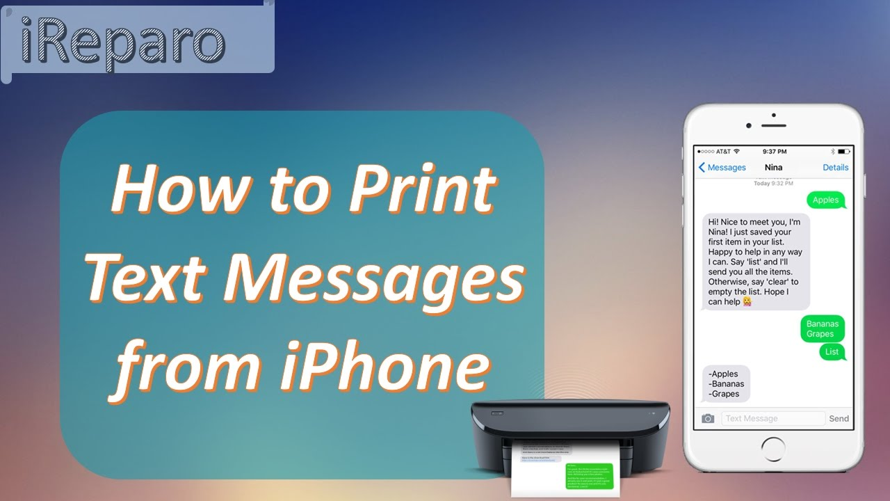 How To Print Out Text Messages From Iphone