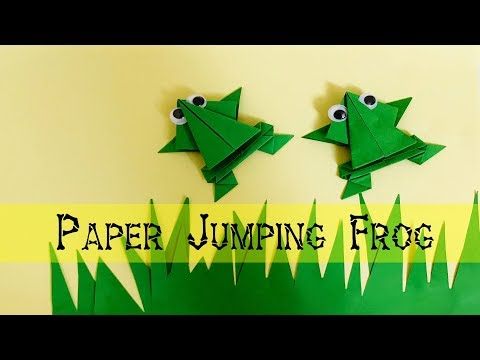 Paper Jumping Frog - How to make a paper frog that really jumps