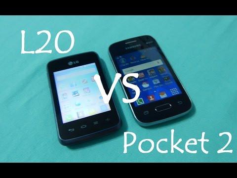 Pocket 2 vs LG L20   COMPARATIVO