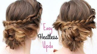 Everyday Heatless Braided Updo | Heatless Hairstyles | Braidsandstyles12