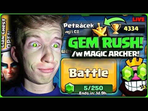 GEM RUSH S MAGIC ARCHEREM! | Clash Royale Česky [NEPOVEDENÝ STREAM]
