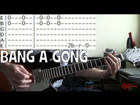 guitar lessons online T Rex bang a gong get it on tab