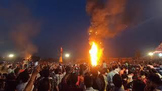 Huge Fire and Crowd   Dusshera in Chandigarh   High Rush in Dusshera Ground   SSFilms