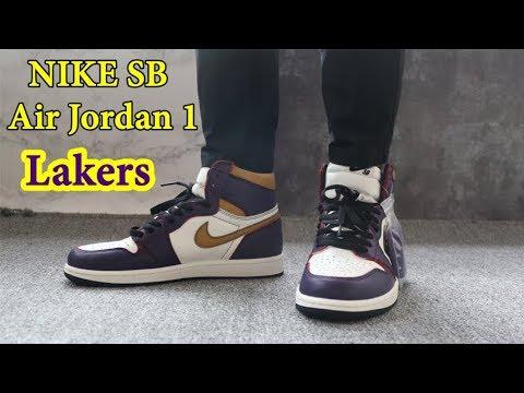 NIKE SB Air Jordan 1 Lakers Review \u0026 On