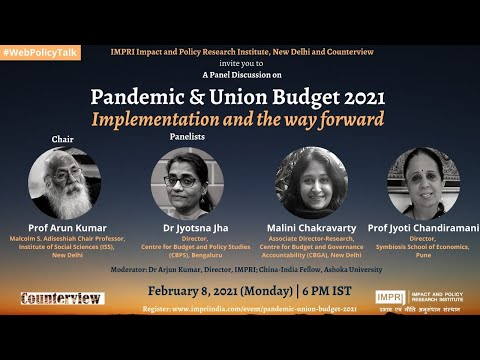 IMPRI Panel Discussion on Pandemic and Budget Implementation and Way Forward