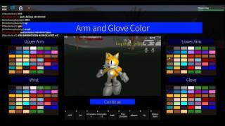 Roblox sonic rpg how to look like tails